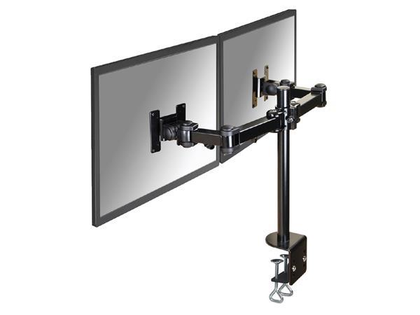 """monitorarm Newstar D960D 2x10-27"""" met klem zwart"""