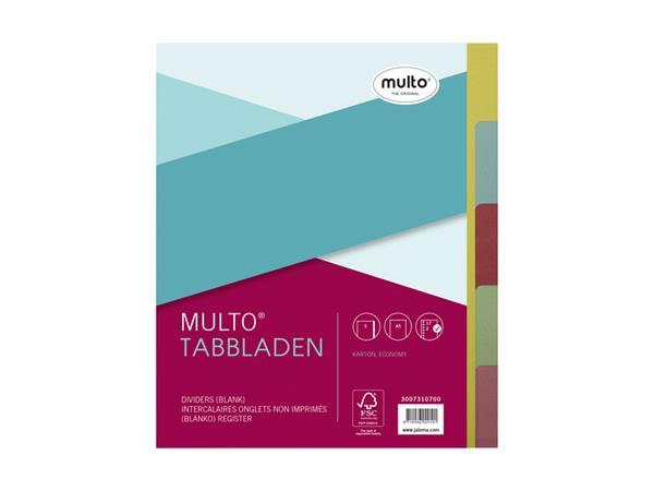 Tabbladen Multo A5 17-gaats 7310700 5-delig ass karton 180gr