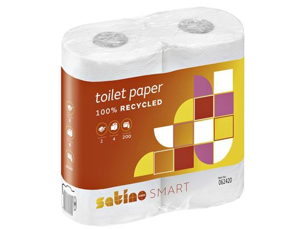 Toiletpapier Satino 2-laags Comfort 200vel wit 4rollen