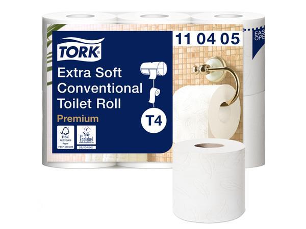 TOILETPAPIER TORK T4 4LAAGS PREMIUM WIT 42ROLLEN 110405