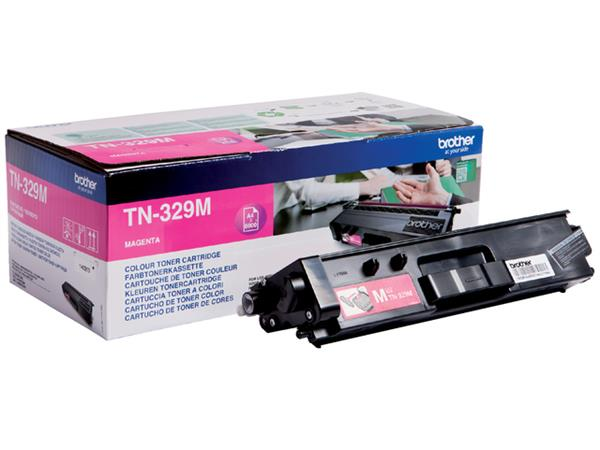 Tonercartridge Brother TN-329M rood