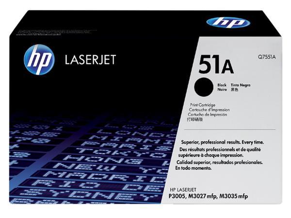 TONERCARTRIDGE HP 51A Q7551A 6.5K ZWART