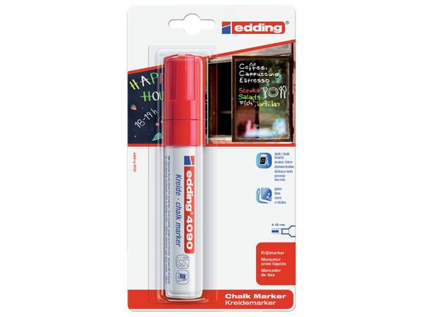 KRIJTSTIFT EDDING 4090 WINDOW BLOK 4-15MM ROOD