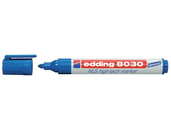 Viltstift edding 8030 NLS High-Tech marker blauw 1.5-3mm