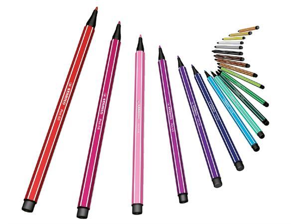 Viltstift STABILO Pen 68/56 roze rood