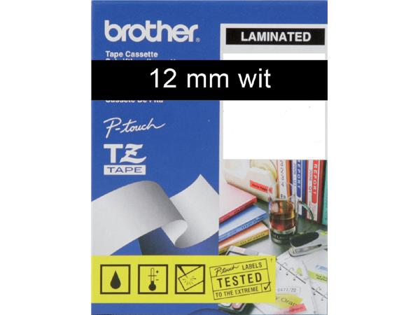 Labeltape Brother P-touch TZE-335 12mm wit op zwart