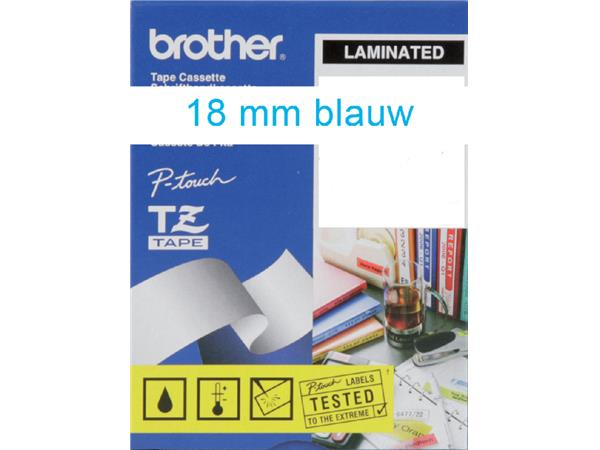 Labeltape Brother P-touch TZE-243 18mm blauw op wit