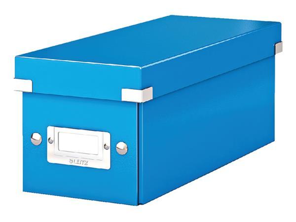 Cd box Leitz WOW Click & Store 143x136x352mm blauw