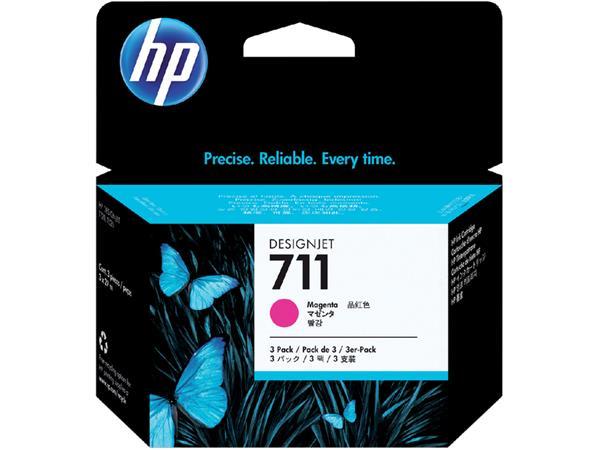 Inktcartridge HP CZ135A 711XL rood HC