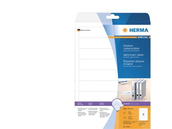 RUGETIKET HERMA 5122 190X30MM INSTEEK 125ST