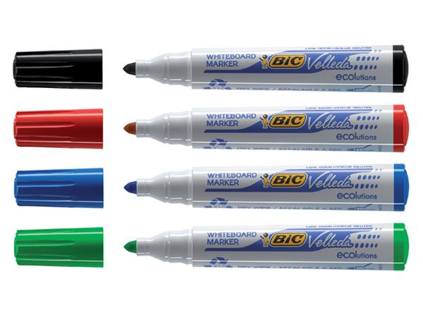 Viltstift Bic 1701 whiteboard rond zwart 1.4mm