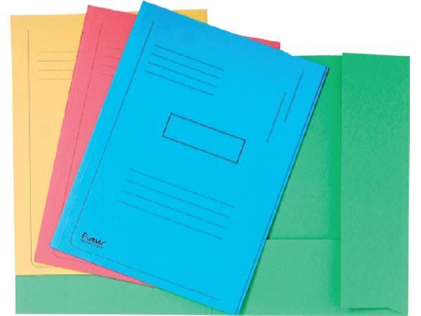 Dossiermap Exacompta Forever A4 2 kleppen 290gr blauw