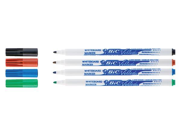 Viltstift Bic 1721 whiteboard rond rood 1.5mm