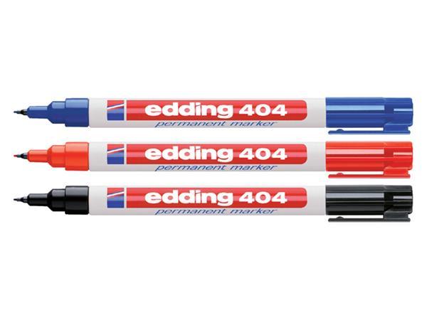 Viltstift edding 404 rond zwart 0.75mm