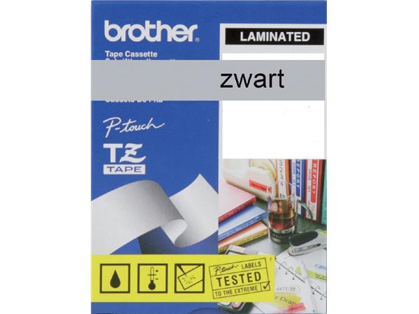 Labeltape Brother P-touch TZE-M951 24mm zwart op zilver