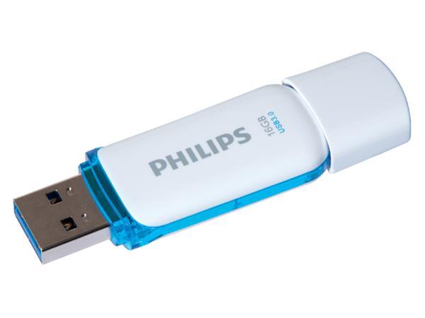 USB-STICK PHILIPS SNOW KEY TYPE 16GB 3.0 BLAUW
