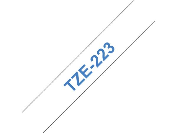 Labeltape Brother P-touch TZE-223 9mm blauw op wit