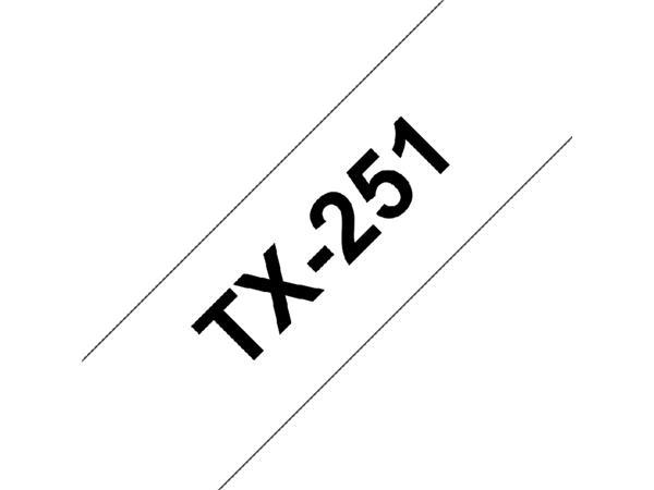 LABELTAPE BROTHER TX-251 24MMX8M WIT/ZWART