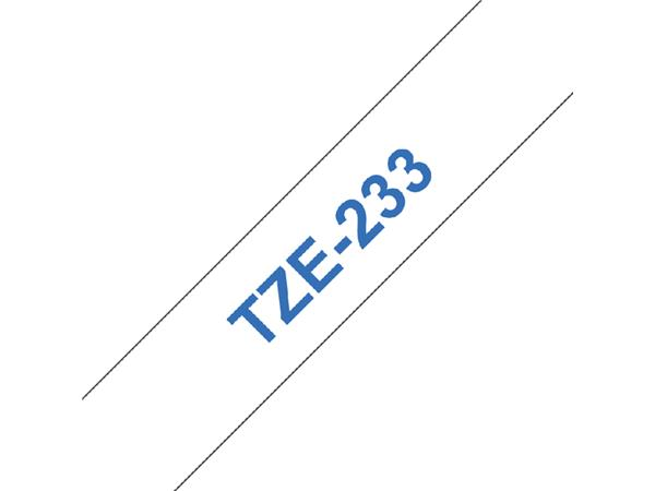 Labeltape Brother P-touch TZE-233 12mm blauw op wit