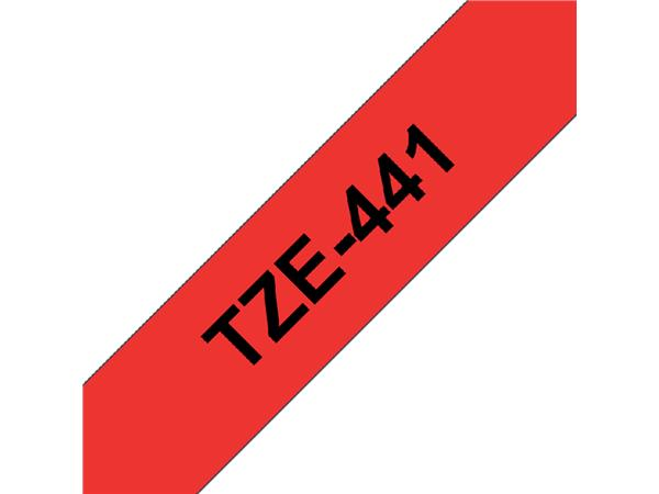 Labeltape Brother P-touch TZE-441 18mm zwart op rood