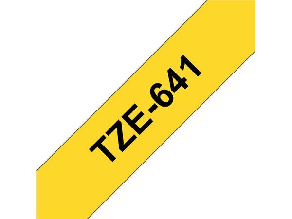Labeltape Brother P-touch TZE-641 18mm zwart op geel