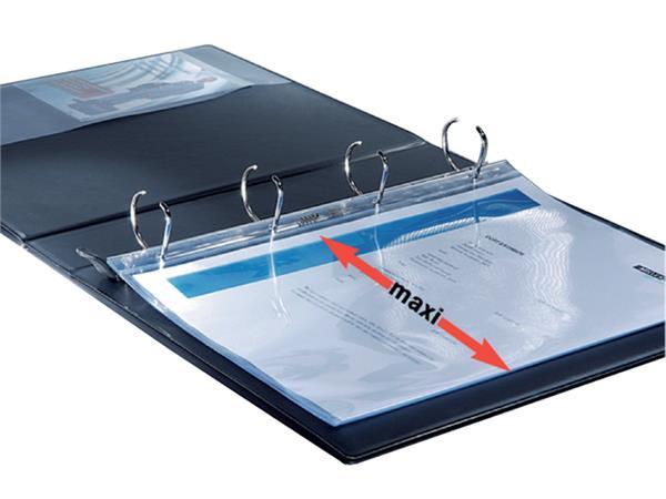 Presentatieringband Leitz SoftClick A4 Maxi 4-rings D-mech 30mm zwart