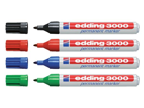 Viltstift edding 3000 rond groen 1.5-3mm
