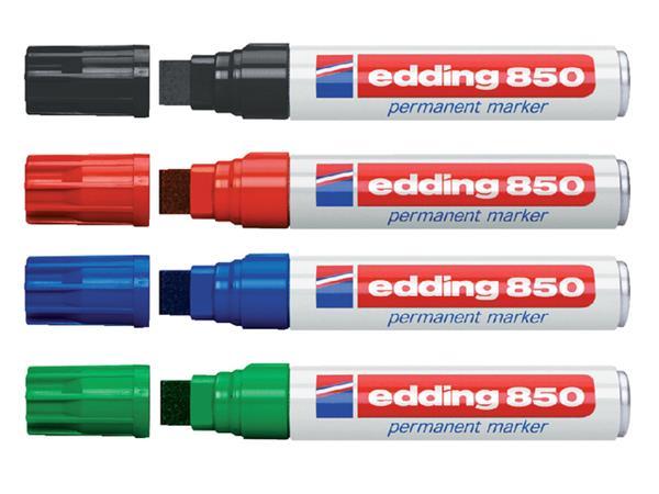 Viltstift edding 850 blokpunt zwart 5-16mm