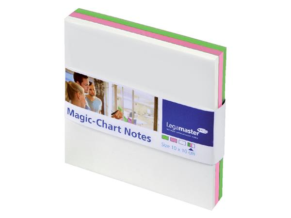 Magic-chart notes Legamaster 10x10cm assorti
