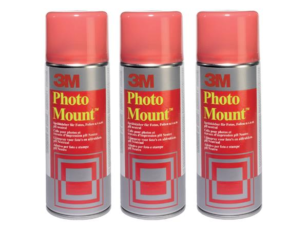 Lijm 3M foto mount spray spuitbus 400ml