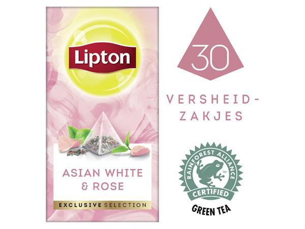 THEE LIPTON EXCLUSIVE AZIATISCH WIT+ROZENBLAADJES