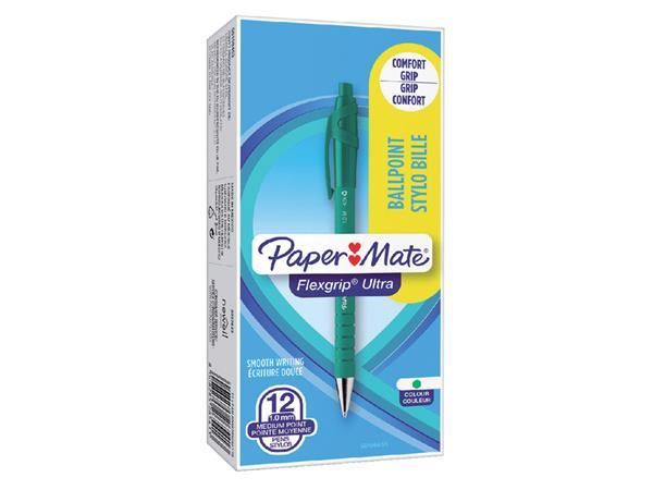 Balpen Paper Mate Flexgrip Ultra groen medium