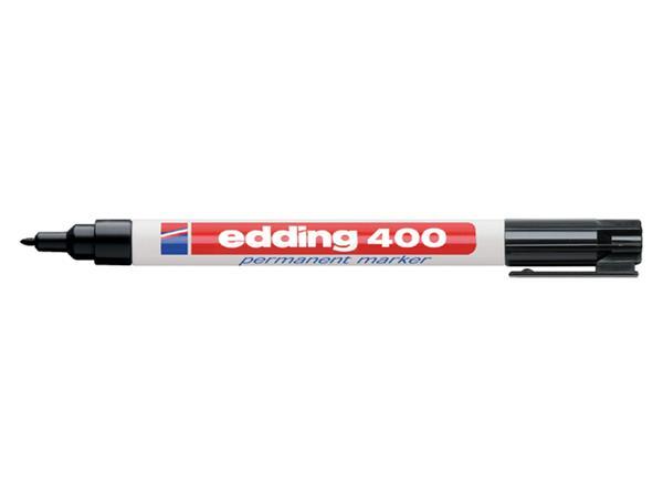 Viltstift edding 400 rond zwart 1mm blister