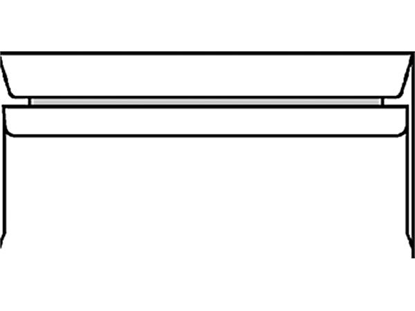 ENVELOP BANK C5/6 114X229 ZK+STRIP 80GR WIT