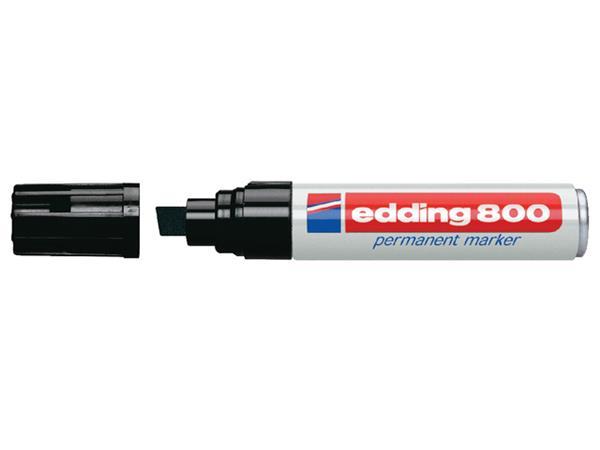 Viltstift edding 800 schuin zwart 4-12mm blister