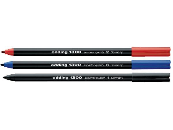 Fineliner edding 1300 zwart 2mm