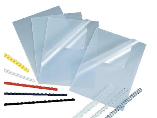 Voorblad GBC A4 PVC 200micron transparant 100stuks