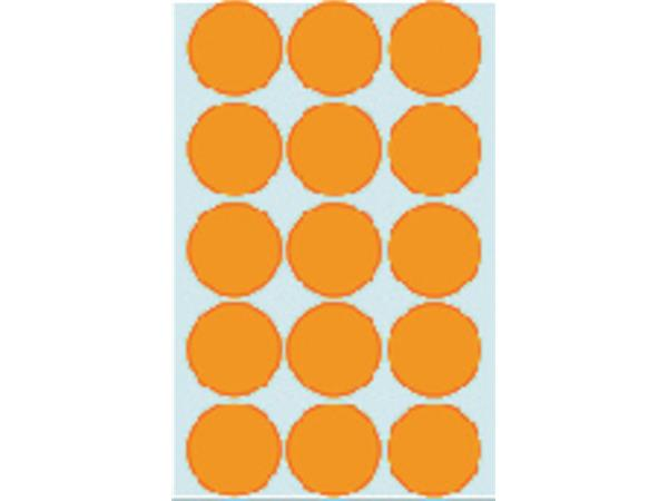 Etiket Herma 2274 rond 32mm fluor oranje 360stuks