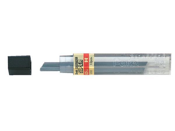 Potloodstift Pentel 0.5mm zwart per koker H