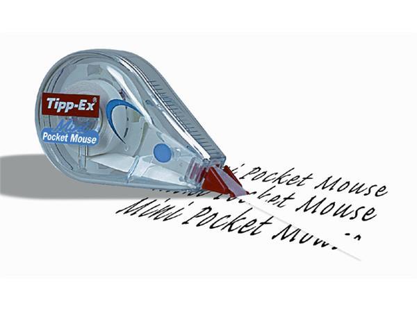 Correctieroller Tipp-ex 5mmx6m pocket mini mouse blister 2+1 gratis