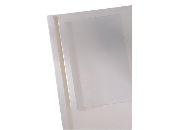 Thermische omslag GBC A4 1.5mm transparant/wit 100stuks