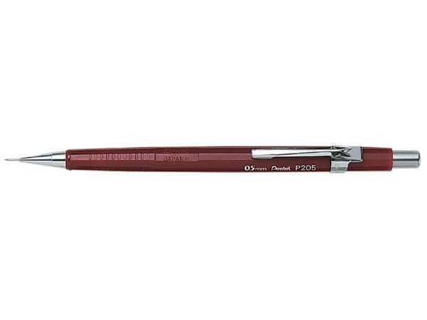 Vulpotlood Pentel P205 0.5mm rood