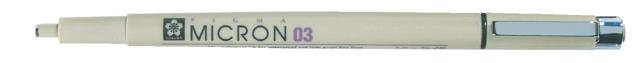Fineliner Sakura pigma micron zwart 0.35mm