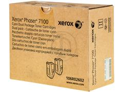 106R2602 XEROX PH7100 TONER (2) CYAN HC 2x4500pages high capacity