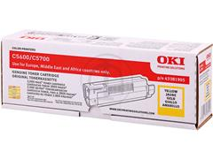 43381905 OKI C5600 TONER YELLOW 2000pages