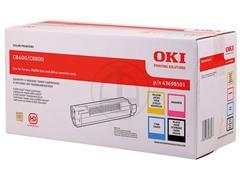 43698501 OKI C8600 TONER (4) CMYK 4x6000pages
