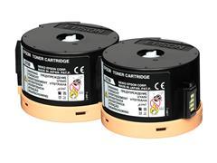 C13S050710 EPSON ALM200 TONER (2) BLK HC 2x2500pages high capacity