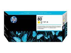 C4823A HP DNJ 1050 PRINTHEAD+CLEANER YEL HP80 17ml