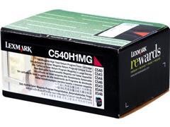 C540H1MG LEXMARK C540 TONER MAGENTA HC 2000pages high capacity return