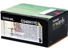 C540H1YG LEXMARK C540 TONER YELLOW HC 2000pages high capacity return